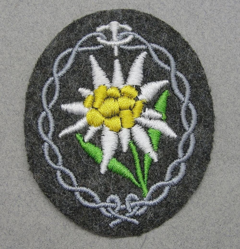 German Mountain Troops Gebirgsjäger Sleeve Edelweiss