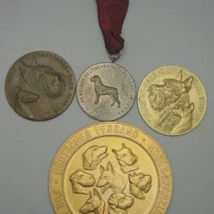 Lot of 4 Canine Medals