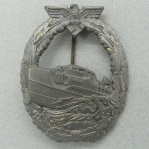 Kriegsmarine E-Boat Badge, First Pattern by S & L