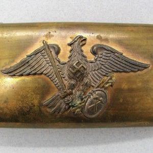 Third Reich Miner's Association Belt Buckle