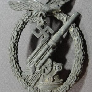 Luftwaffe Flak Badge by Gustav Brehmer