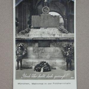 Feldherrnhalle Monument Card