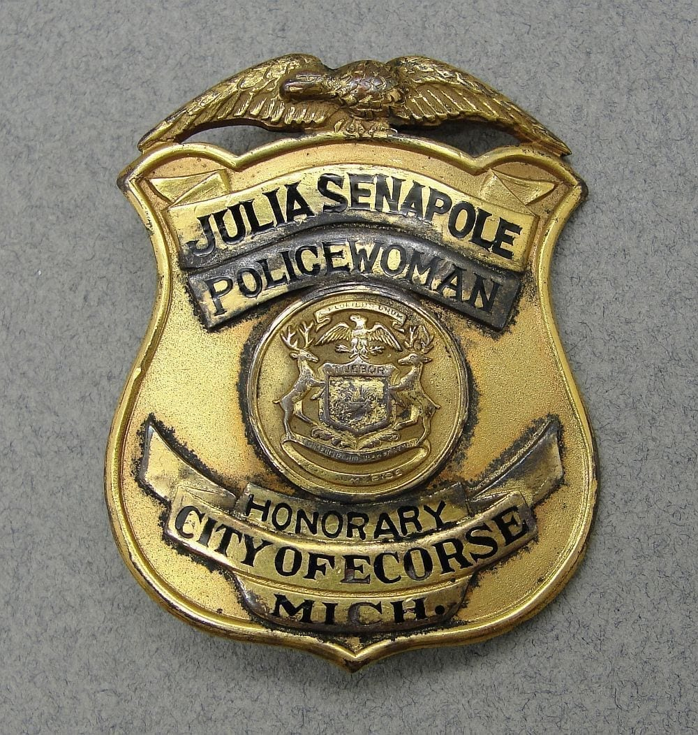 Policewoman City of Ecorse Michigan Badge