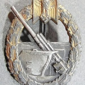 "Kriegsmarine Coastal Artillery Badge by ""FLL 43"""