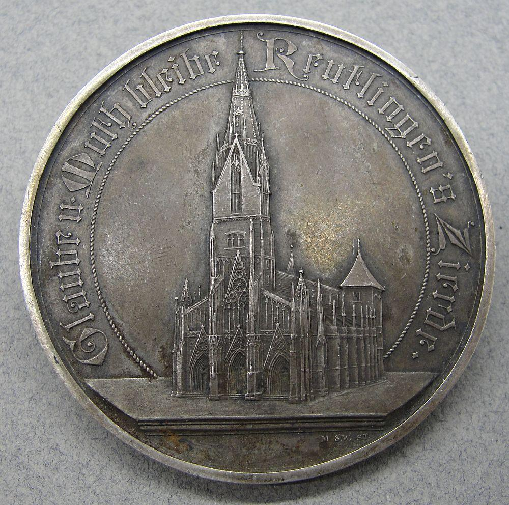 1901 Reutlingen Cathedral Faithful Service Medal