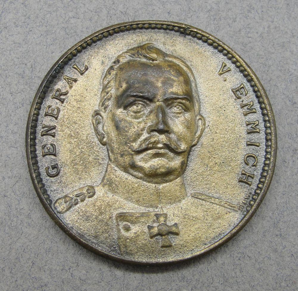 Prussian General Otto von Emmich Table Medal