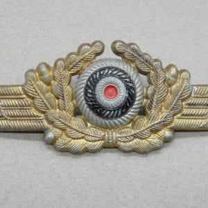 Luftwaffe Visor Cap Wreath and Cockade - Gold