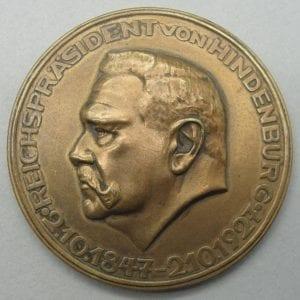 Reichspräsident Hindenburg Medal
