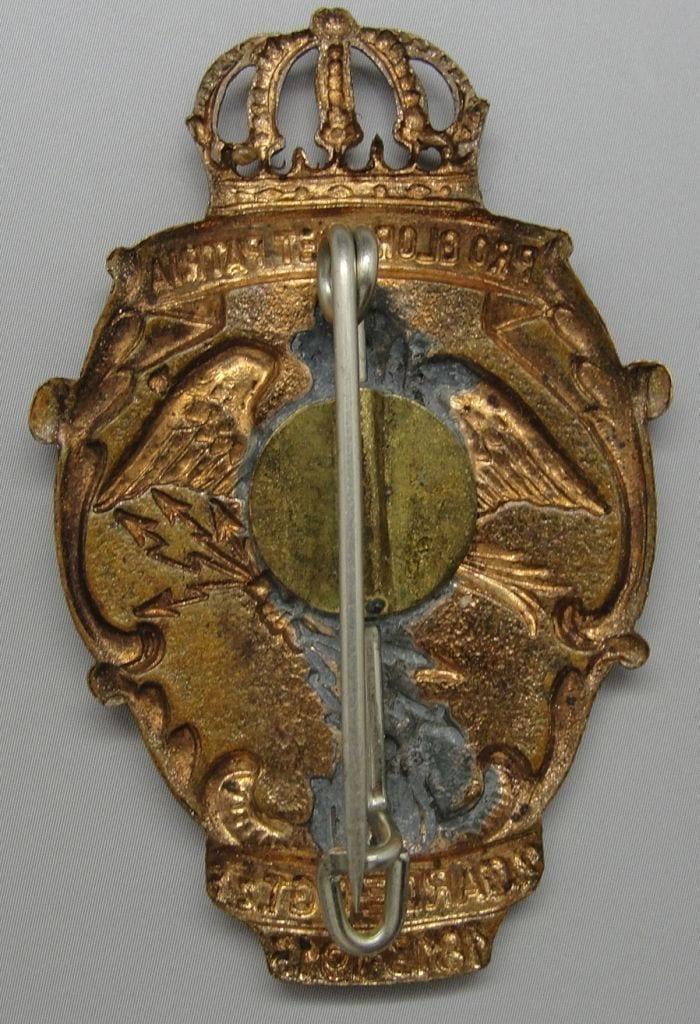 1913 Second Guard Regiment Badge