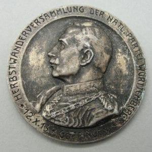 1913 Herbst Wanderversammlung der Natl Partei Württemberg Medal