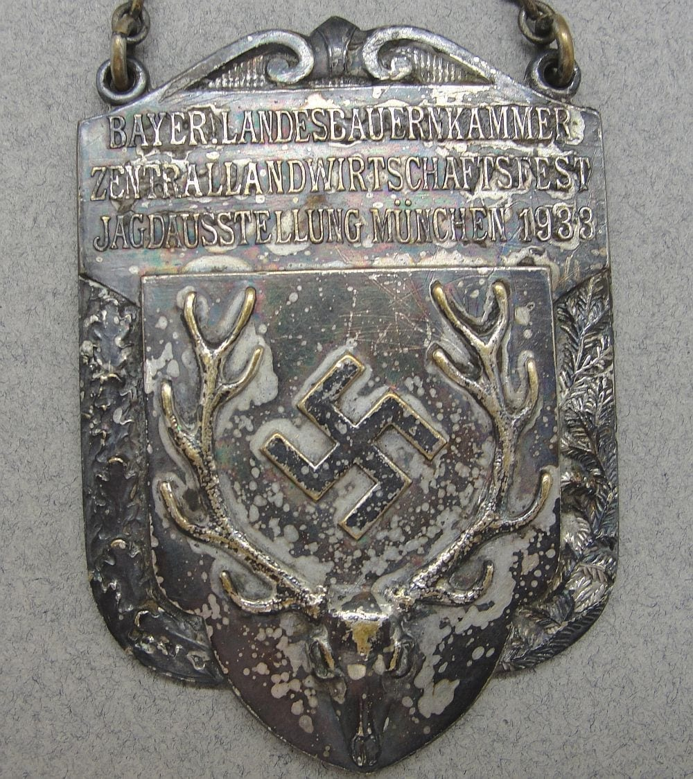1933 Bavarian Hunting Fest Medal by Deschler