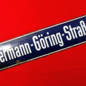 """Hermann - Göring - Straße"" Street Sign"