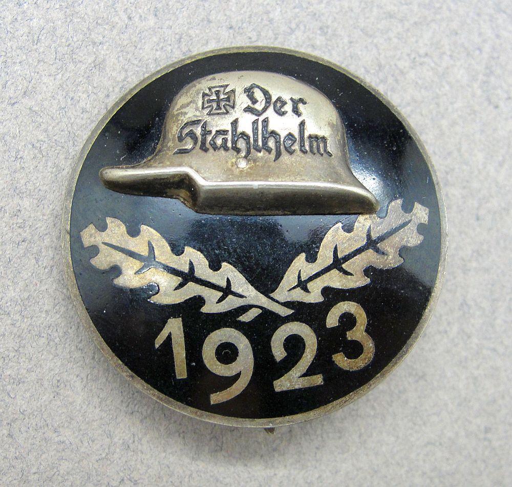 1923 Der Stahlhelm Membership Badge