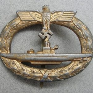 Kriegsmarine U-Boat Badge- 5 Feather Type