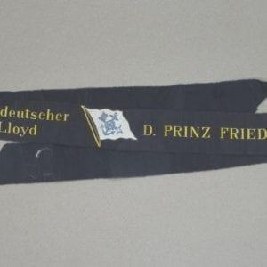 Nord-deutscher Lloyd D. Prinz Friedrich Wilhelm Cap Tally