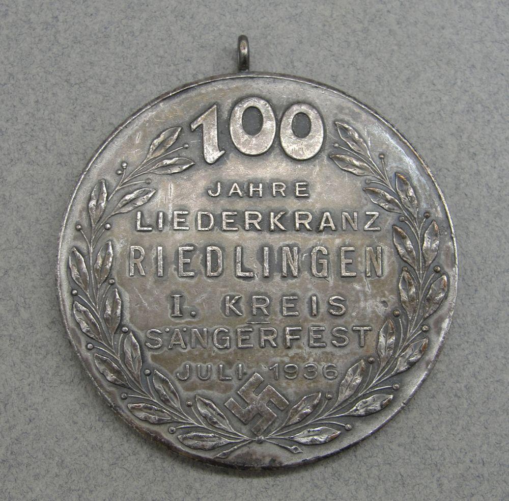 1936 Third Reich Singing Society Medal