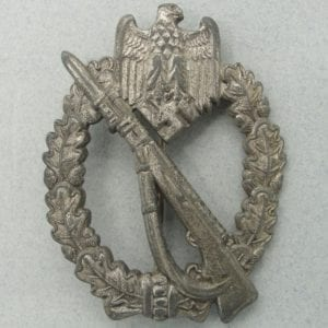 "Army/Waffen-SS Infantry Assault Badge, Silver Grade, by ""MK"" in Triangle"