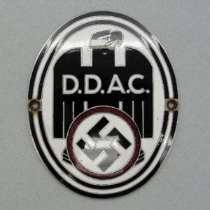 DDAC German Automobile Club Radiator Plaque