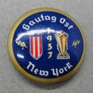 1937 German American Bund New York Gautag Ost Badge