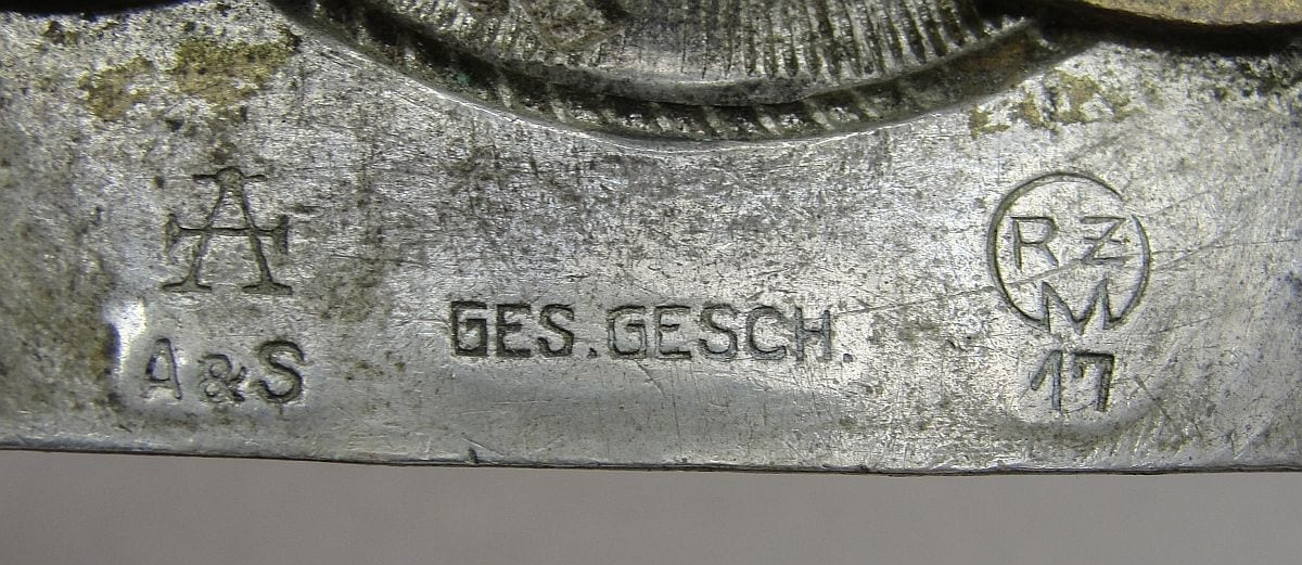 "Hitler Youth Belt Buckle by ""A GES GESCH RZM 17"""