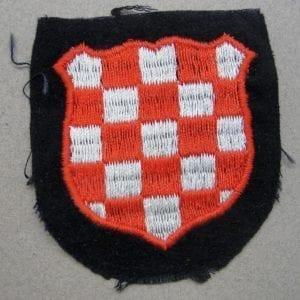Waffen-SS Croatian Volunteer Sleeve Shield