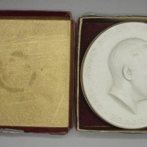 Boxed Adolf Hitler Porcelain Plaque