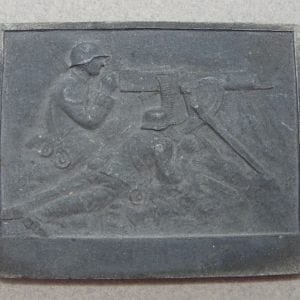 WW1 German Machine Gunner's Plaque