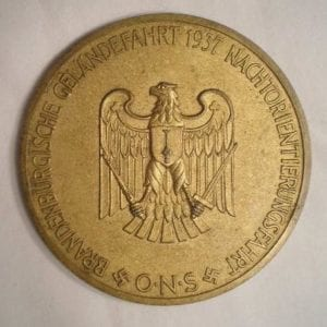 1937 ONS Table Medal
