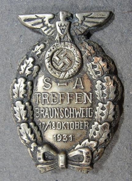 1931 SA-TREFFEN BRAUNSCHWEIG Badge