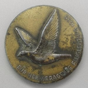 1935 German Carrier Pigeon Table Medal