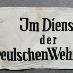 """""""Im Dienst der Deutschen Wehrmacht"""" Armband"""