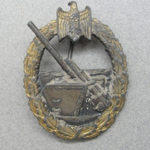 "Kriegsmarine Coastal Artillery Badge by ""R.S."" - Catch Damaged"