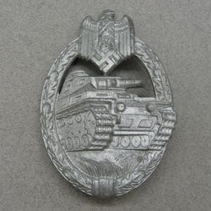 Army/Waffen-SS Panzer Assault Badge, Silver Grade - Concave Reverse