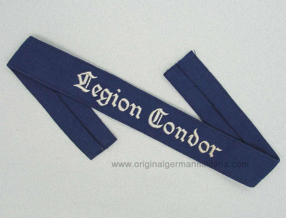 Luftwaffe Legion Condor Cuff Title - Hand Embroidered Cotton