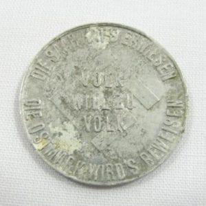 1935 Die Saar Fur Hitlers Deutschland Token