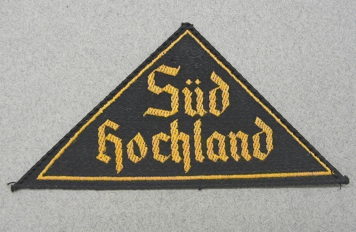 Hitler Youth District Triangle with RZM Tag Süd Hochland