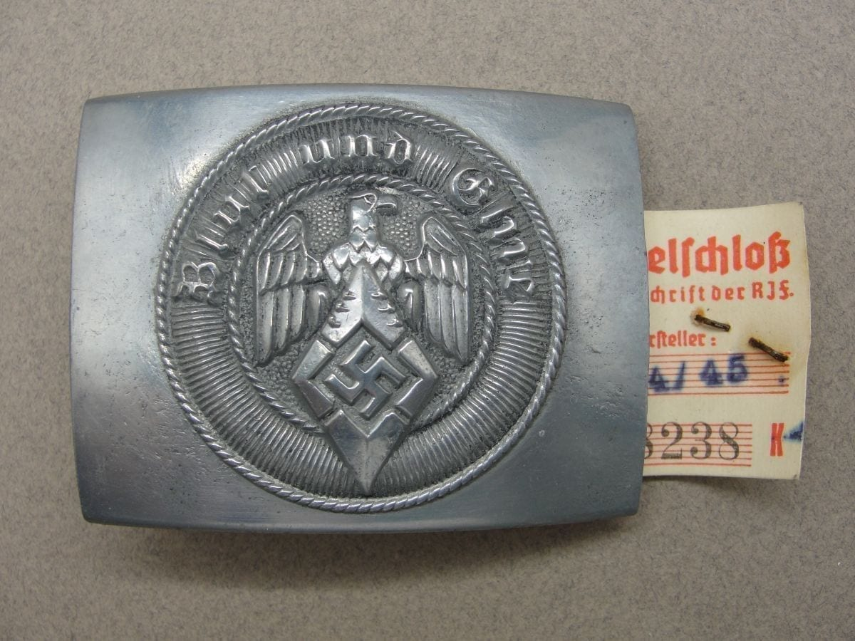 "Hitler Youth Belt Buckle by ""RZM M4/45"" with RZM Tag"