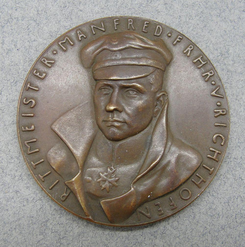 1918 Goetz Death of the Red Baron, Baron von Richthofen Bronze Medal