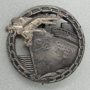 Kriegsmarine Blockade Runner's Badge by Schwerin - Partially Scooped-Out Reverse