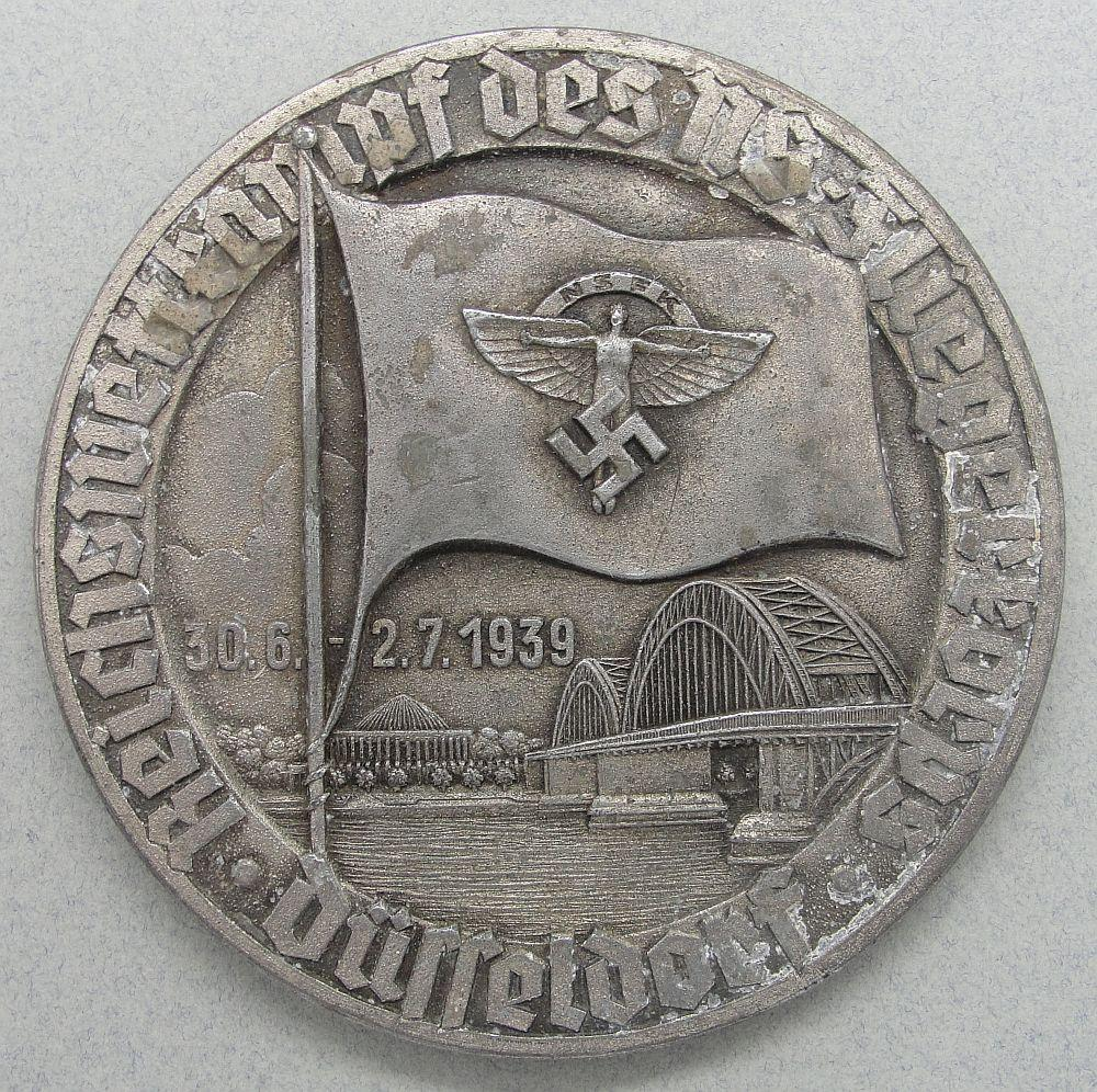 1939 NSFK Table Medal.  8cm/ 3 1/8cm diameter