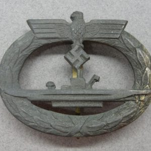 Kriegsmarine U-Boat Badge, French Made by Baqueville