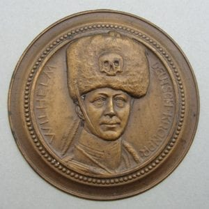 Crown Prince Wilhelm Death's Head Hussar Busby Plaque