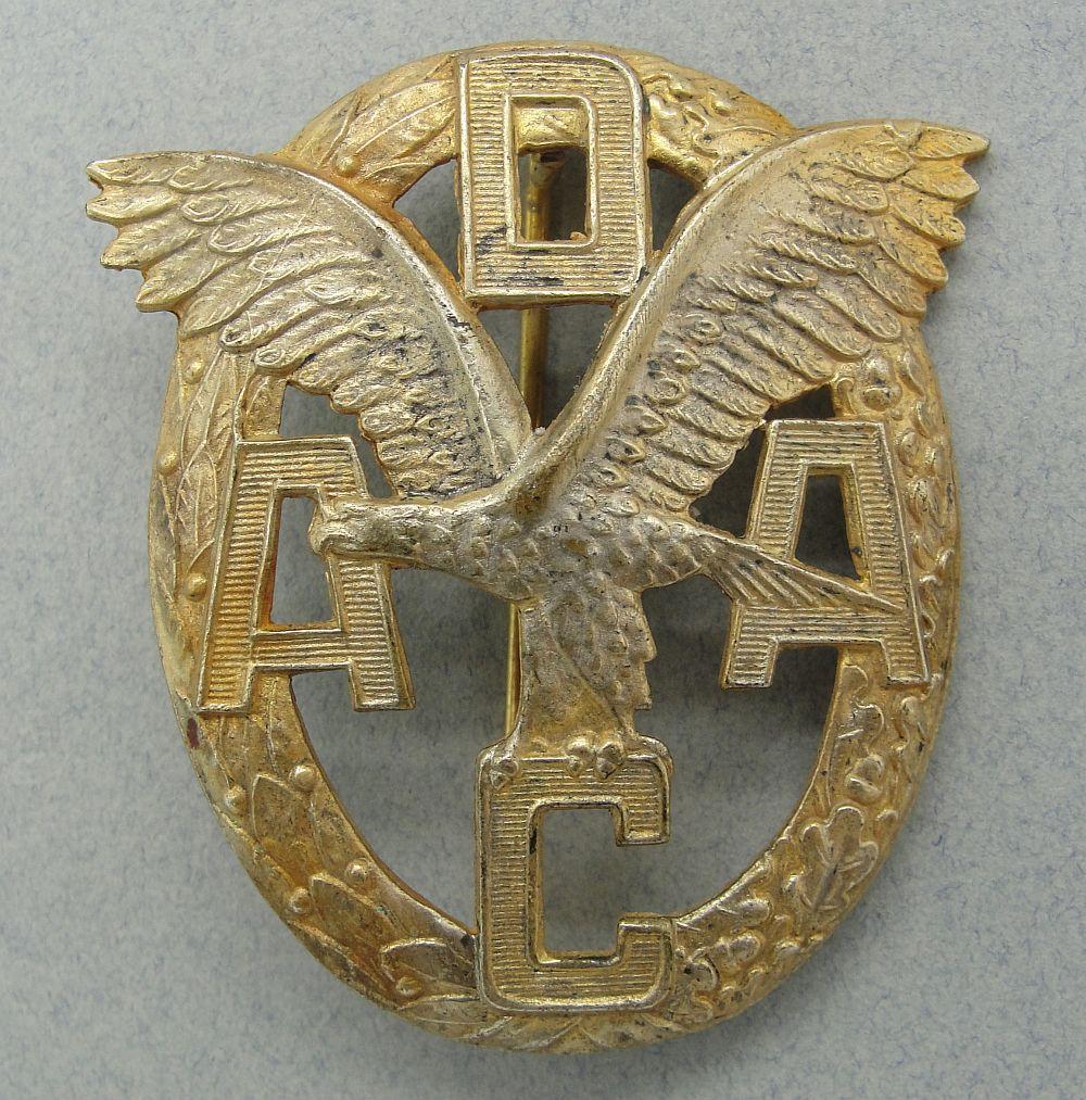 ADAC Motor Sports Badge, Gold Grade