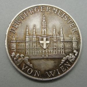 Bürgermeister (Mayor) of Vienna Table Medal Award