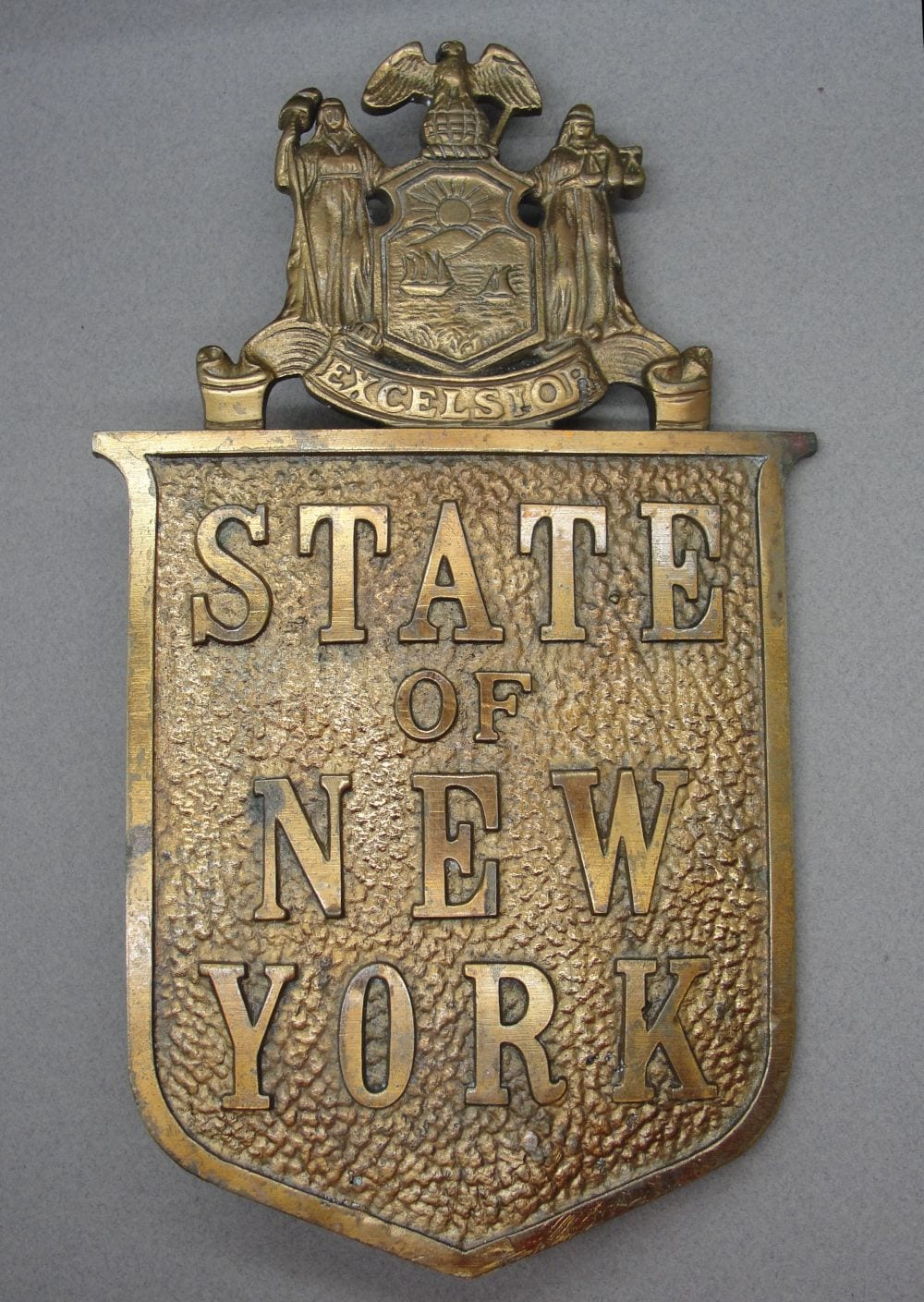 Large State of NY Plaque