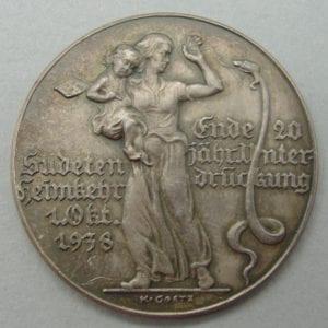 Karl Goetz Sudetanland Propaganda Medal
