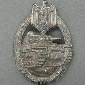 Early Army/Waffen-SS Panzer Assault Badge, Silver Grade, by B.H. Mayer