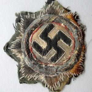 Cloth German Cross in Gold on Army/Waffen-SS Backing