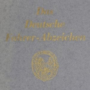 German Horse Driver's Badge Award Booklet