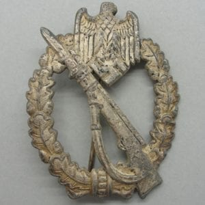 Army/Waffen-SS Infantry Assault Badge, Silver Grade, by FZZS, Catch Gone
